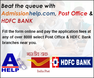 Beat the queue with Admissionhelp.com, Axis Bank & Post Office.